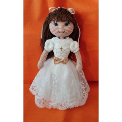 Muñeca de comunion Amigurumi