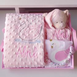 Cesta Bebé personalizada Cisne