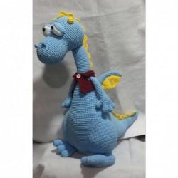 Dragon azul amigurumi