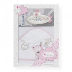 Capa de baño Tendedero rosa...