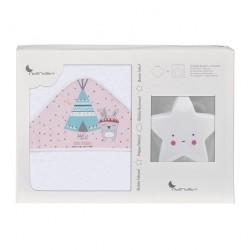 Capa de baño Tipi Oso rosa...