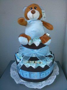 tartas de pañales para babyshower